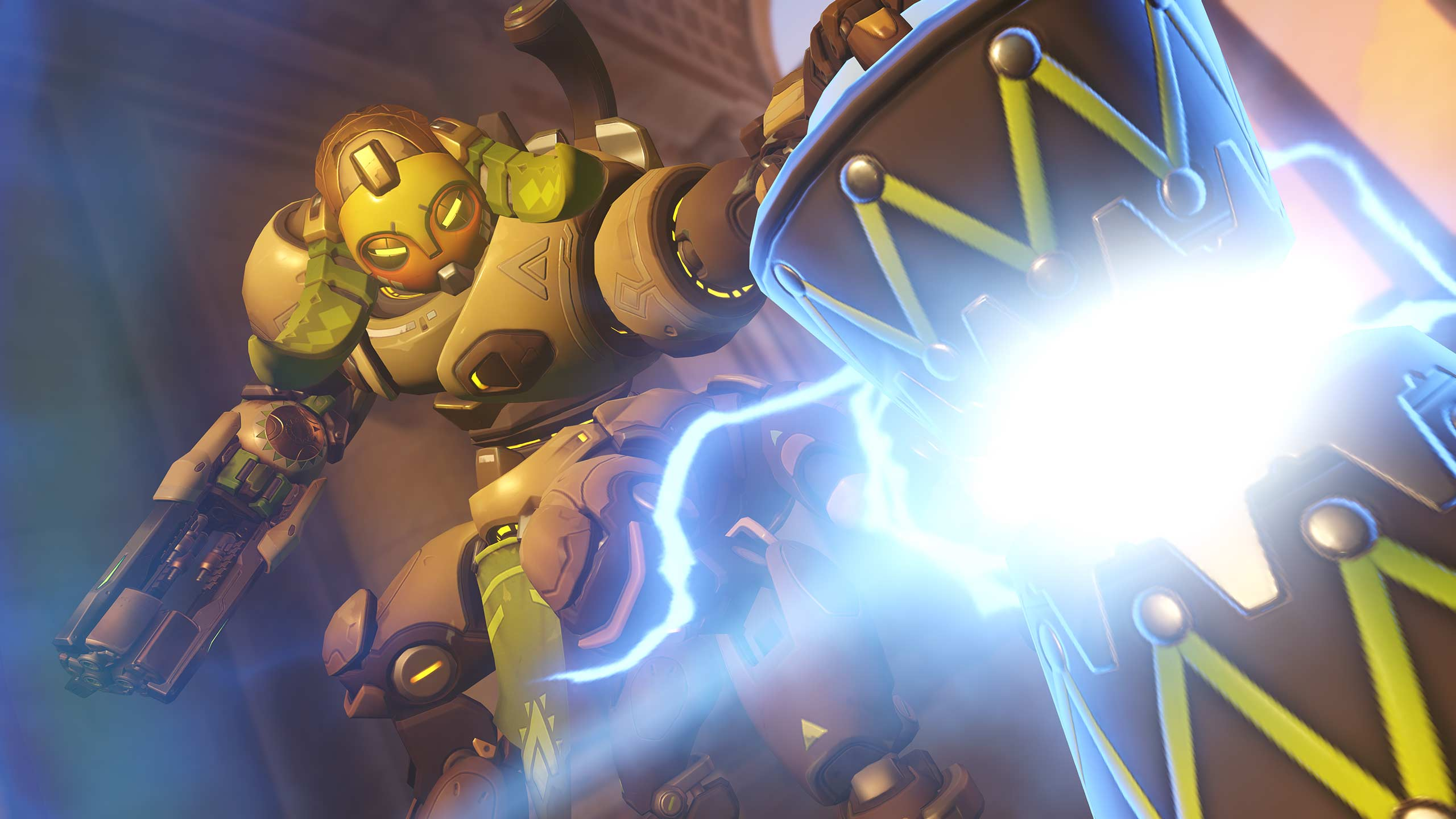 Orisa is one of the heroes of Tank Mode in Overwatch. (Image: Blizzard)