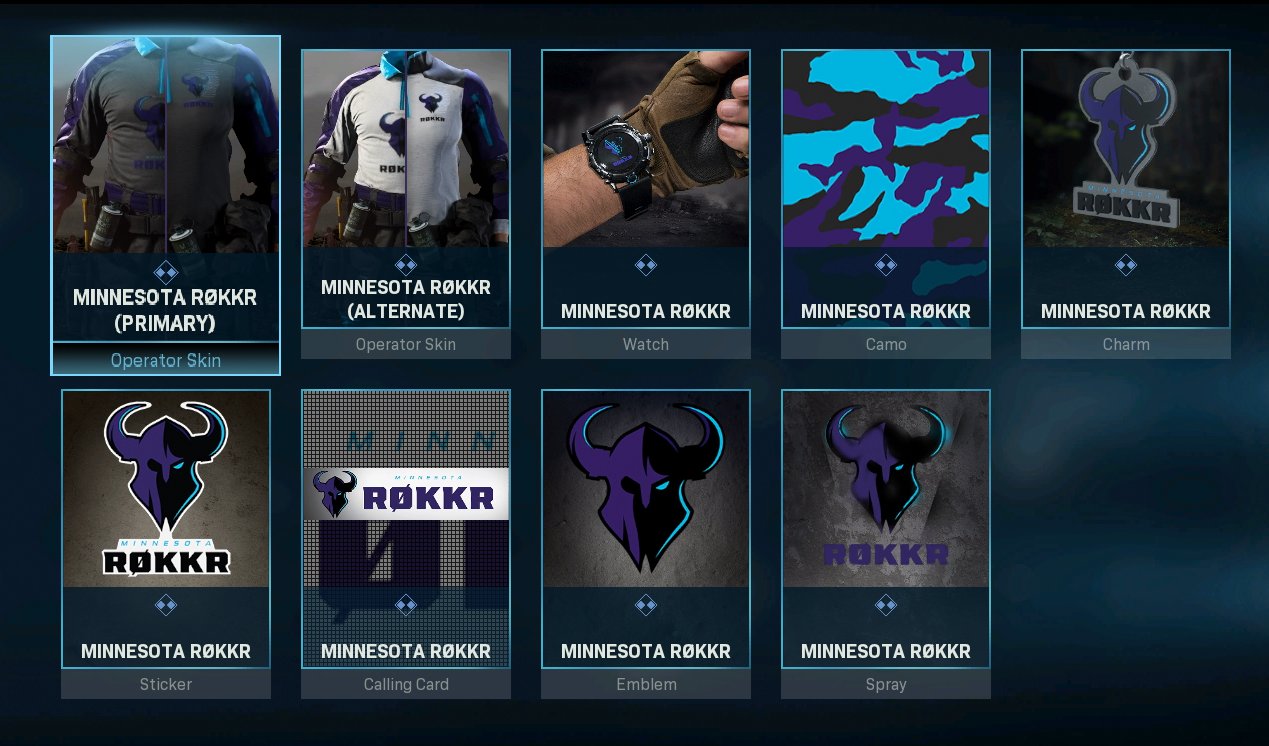 Minnesota Rokkr Team Pack Available In Call Of Duty Modern Warfare