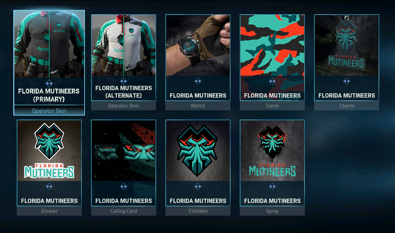 Florida Mutineers Team Pack Available In Call Of Duty Modern Warfare